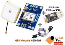 GPS Module Built-in Data Memory with Antenna and USB2TTL Compatible with NEO-7M