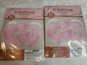 LOT/30 SO ENGAGED Wedding Engagement Balloons Latex Bridal Party Decorations