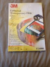 Universal Transparency film A4 CG6000 50 Sheets 3m