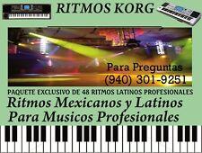 KORG PA / KORG MICROARRANGER / 48 RITMOS MEXICANOS Y LATINOS VERSION 1