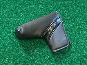 PLAIN BLACK BLADE PUTTER HEADCOVER - Golf Head Cover GOOD