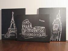 City Lines Art Prints on Canvas , Paris, Rome, London Sights