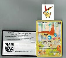 Victini Pokemon Mythical Collection Promo XY117 +  Matching Pin + Online Code