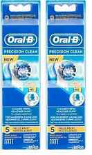 Oral-B Precision Clean Replacement Brush Heads - 5 Brush Heads (2 Pack)