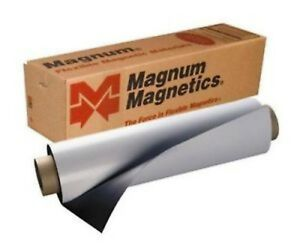 "24"" width x 8 Ft ROLL MAGNUM 30 Mil. Best On Market Blank Magnetic Sign Sheet"