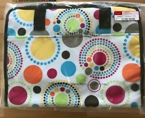 Thirty One Fresh Market Thermal Tote CIRCLE SPIRALS Beach Summer Grocery Party