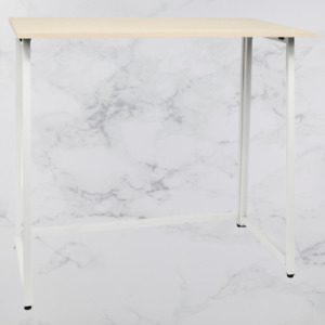 Folding Computer Desk Stand Table Laptop Monitor Study Compact Office - White