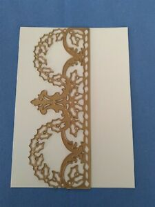 Anna Griffin Fancy Holiday Border Die Card Making Christmas Wreath