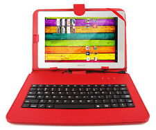 Premium Quality QWERTY Keyboard Case for Archos 101 XS & XS 2 in Red