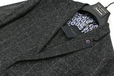 TED BAKER Charcoal Grey Mouline Check Suit C40xW32xL33.5 BRAND NEW UNWORN + TAGS