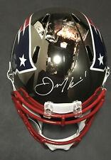 Julian Edelman SB LIII MVP signed Patriots FS Chrome Helmet auto Steiner JSA COA