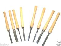 8pc Wood Lathe Chisel Turning Tool Woodworking Gouge Skew Parting Spearpoint set