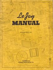 LEJAY MANUAL By Lindsay Publications Inc. 50 Plans Reprint