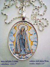 """Medalla porcelana cerámica de """" Ntra Sra de Fatima  30x40mm"""