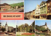 Rudolstadt   Thälmannstraße, Rathaus, Wilhelm-Pieck-Platz, Heidecksburg 1984
