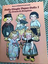 Vintage Dolly Dingle Paper Dolls 1 Book Uncut Grace G. Drayton Rare Global New