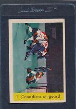 1959/60 Parkhurst #001 Canadiens On Guard VG/EX 59PH1-122115-1
