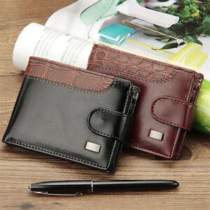 Mens PU Leather Wallet Purse Bifold Credit Card Wallet RFID Blocking Anti Scan