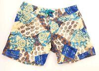"""Sauvage Mens Swimming Shorts Hawaiian Tropical Print  Size 30"""""""