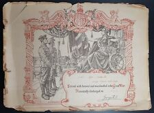 GB; WW1, Kings Royal Rifles Corps Honourably Discharged Cert- 11740 Parker, N
