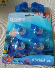 Disney Pixar Finding Dory Whistles - Package of 4 + BONUS ***NEW**.