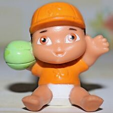 """DORA THE EXPLORER BABY BROTHER PLAYING CATCH ORANGE GREEN BALL 1.5"""" FIGURE"""