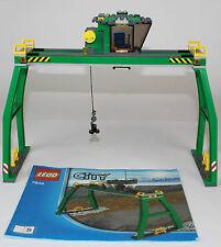 Lego treno city, gru carico merci x stazione (porto) set 7939