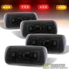 Smoked 2010-2017 Dodge Ram Pickup Fender LED Side Marker Lights 4Pcs Left+Right