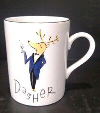Dasher Pottery Barn Reindeer Coffee Mug Collection Porcelain Christmas Tea Cup98