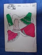 "Vintage sewing pattern 1950s waist slips 24"" waist Le-Roy 2334 petticoat"