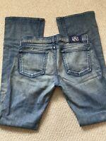 Women's Rock & Republic Jaguar Denim Pants Light Blue Bootcut Jeans Size 30
