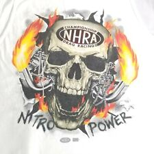 Vintage Men Large Drag Racing Sleeveless Tank Top NHRA Championship Nitro Skull