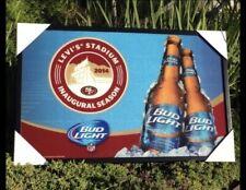 Bud Light San Francisco 49ers NFL Football Beer Bar Mirror Man Cave