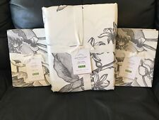 Pottery Barn Pippa Floral Botanical Duvet Cover King & 2 King Shams NEW