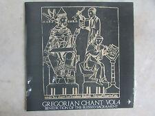 GREGORIAN CHANT VOL. 4 BENEDICTION BLESSED SACR WORLD RECORD LP VINYL 33 ESTATE