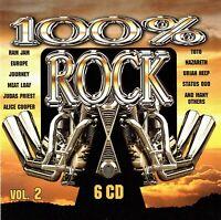 (6CD's) 100% Rock Vol. 2 - Europe, Uriah Heep, REO Speedwagon, Alice Cooper, UFO