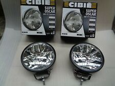 "NEW PAIR CIBIE SUPER OSCAR LED SPOTLIGHTS 9"" 12V / 24V BLACK WIDE BEAM 045316"