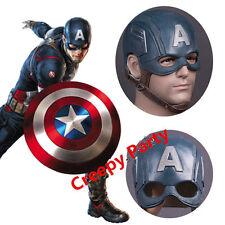 Captain America 3 Steven Rogers Latex Mask Halloween Cosplay Adult Helmet Masks