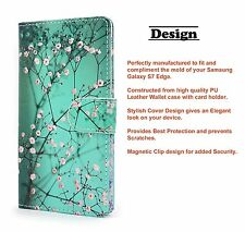 Plum Blossom Premium PU Leather Fold Wallet Pouch Case fr Samsung Gala