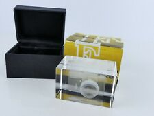 RARE NIKON F 3D GLASS PAPER WEIGHT NHS CONVENTION BRUGES 2010 BOXED MINT FF