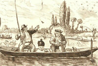 1866 Pen and Ink Drawing - Patience Rewarded
