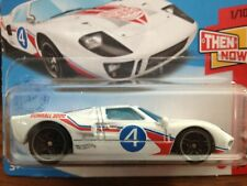 Hot Wheels 2021-078 Then And Now Ford Gt-40 1/10 White Pr/5 Short Card