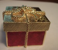 "Estee Lauder Solid Perfume Compact ""Golden Gift Box"""