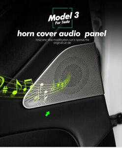Accessories Front Column Roof Horn Hood Speaker Cover For Tesla Model 3