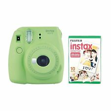 FUJIFILM Instax Mini 9 Instant Camera with 10 Shots Lime Green- Christmas gift