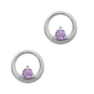 925 Silver Beautiful Tiny Pink Amethyst Studs Earring Jewelry For Women