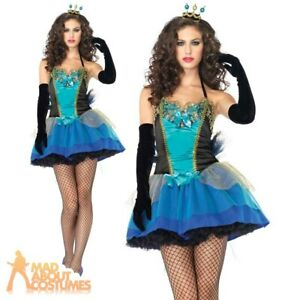 Adult Ladies Peacock Costume Tutu Womens Sexy Fancy Dress Outfit Leg Avenue