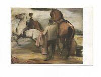 """Künstlerkarte von Adolf Dahle, """"Morgenritt"""", 1942"""