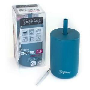 Kids Smoothie Cup with Straw - BLUEBERRY BLUE