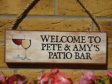 PERSONALISED DRINKS SIGN PATIO SIGN GARDEN SIGN WINE BEERS SPIRITS DRINKING SIGN